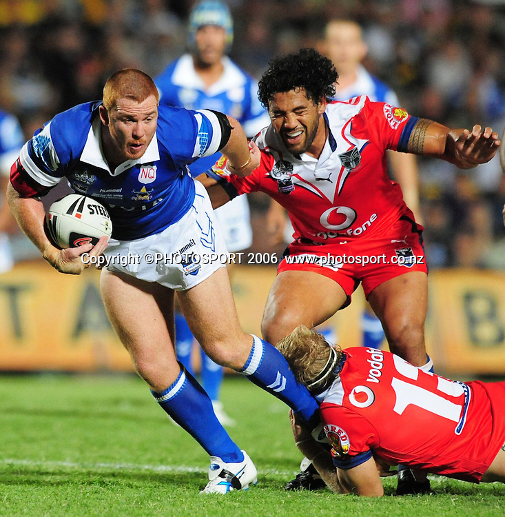 North Queensland Cowboys against the New Zealand Warriors at Dairy Farmers Stadium. Steve Southern.