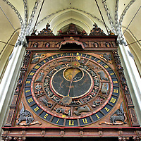 Astronomical Clock Inside St. Mary&rsquo;s Church in Rostock, Germany<br />