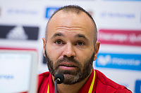 Andres Iniesta during press conference in the city of football of Las Rozas in Madrid, Spain September 01, 2017. (ALTERPHOTOS/Borja B.Hojas)