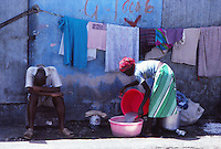 a woman at work, Port au Prince, Haiti - 1980s