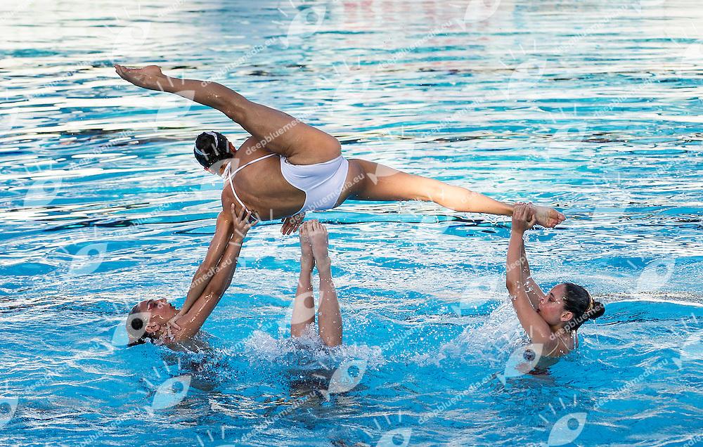 Giorgio Minisini e Olgiata 2012<br /> Finale libero combinato<br /> Campionato Assoluto Nuoto Sincronizzato<br /> Stadio del Nuoto Roma  Italy 6-8 giugno 2014<br /> Photo R.Pannunzi/Deepbluemedia/Insidefoto