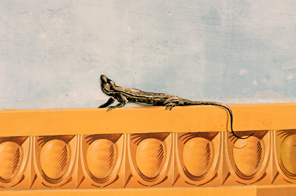 Mural detail, Getty Villa, Pacific Palisades, California.