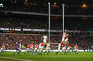 6 Feb 2010 Twickenham, England: A capacity crowd of over 80,000 watch Wales win a lineout during the Six Nations match between England and Wales. Photo © Andrew Tobin www.slikimages.com