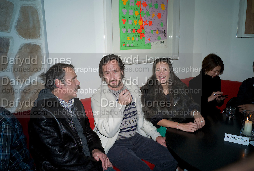 Marc Newson; Charlotte Stockdale,  Prada Congo Art Party hosted by Miuccia Pada and Larry Gagosian. The Double Club,  Torrens St. London EC1. The Double Club is A Carsten Holler project by Fondazione Prada. 10 February 2009. *** Local Caption *** -DO NOT ARCHIVE-© Copyright Photograph by Dafydd Jones. 248 Clapham Rd. London SW9 0PZ. Tel 0207 820 0771. www.dafjones.com.<br /> Marc Newson; Charlotte Stockdale,  Prada Congo Art Party hosted by Miuccia Pada and Larry Gagosian. The Double Club,  Torrens St. London EC1. The Double Club is A Carsten Holler project by Fondazione Prada. 10 February 2009.