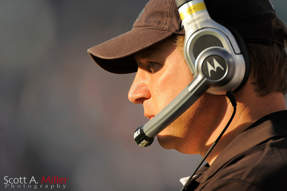 Cleveland Browns head coach Eric Mangini during the Browns 24-20 loss to the Jacksonville Jaguars at EverBank Field on Nov. 21, 2010 in Jacksonville, Florida. ..©2010 Scott A. Miller