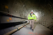 MTA representative Shawn Killane walks through a tunnel being built as part of the extension of the 7 line of the New York subway system. The tunnel and the 34th street station is well on its way to be finished. A proposed extension to New Jersey is in the talks.