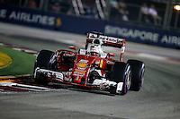Singapore - Formula 1 Gran Premio di Singapore 2016 - nella foto : Sebastian Vettel - Ferrari  SF16-H - Formula 1
