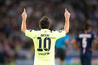 joie de Lionel Messi (Barca) apres son but