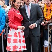 NLD/Middelburg/20100430 -  Koninginnedag 2010, Aimee en partner Floris