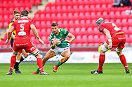 Luca Sperandio of Benetton Treviso in action during todays match<br /> <br /> Photographer Craig Thomas/Replay Images<br /> <br /> Guinness PRO14 Round 3 - Scarlets v Benetton Treviso - Saturday 15th September 2018 - Parc Y Scarlets - Llanelli<br /> <br /> World Copyright &copy; Replay Images . All rights reserved. info@replayimages.co.uk - http://replayimages.co.uk