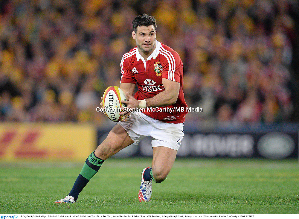 6 July 2013; Mike Phillips, British & Irish Lions. British & Irish Lions Tour 2013, 3rd Test, Australia v British & Irish Lions. ANZ Stadium, Sydney Olympic Park, Sydney, Australia. Picture credit: Stephen McCarthy / SPORTSFILE