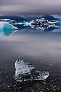 Jokulsarlon glacial lagon is one of the most remarkable places in Vatnajokull National Park