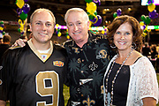 Courtney and brother David Blitch with U.S. Rep. Steve Scalise at his kick off party for the 2012 Washington Mardi Gras in the Louisiana Superdome honoring King Tommy Cvitanovich and Queen Jayne Champagne
