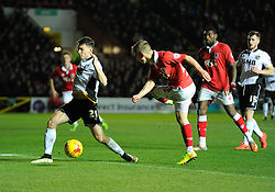 Bristol City's Joe Bryan crosses  - Photo mandatory by-line: Joe Meredith/JMP - Mobile: 07966 386802 - 10/02/2015 - SPORT - Football - Bristol - Ashton Gate - Bristol City v Port Vale - Sky Bet League One