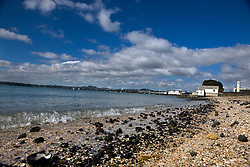 Duders Beach, along side Waitemata Harbour, Devonport, Auckland, New Zealand