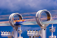 "AquaDuck water slide, aboard the cruise ship ""Disney Dream"", Disney Cruise Line, docked at Nassau, The Bahamas"