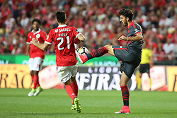 August 9, 2017 - Lisbon, Portugal - Braga's defender Ricardo Esgaio (R ) vies with Benfica's Portuguese midfielder Pizzi during the Portuguese League football match SL Benfica vs SC Braga at Luz stadium in Lisbon on August 9, 2017 . Photo: Pedro Fiuza. (Credit Image: © Pedro Fiuza/NurPhoto via ZUMA Press)