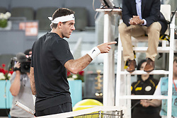 May 8, 2018 - Madrid, Spain - Argentine Juan Martin Del Potro during Mutua Madrid Open 2018 at Caja Magica in Madrid, Spain. May 08, (Credit Image: © Coolmedia/NurPhoto via ZUMA Press)