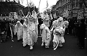 Demonstration organised by the Stop the War Coalition and the Muslim Association of Britain, in protest against military intervention in Iraq. It is estimated that between 150,000 and 400,000 people attended the march.<br /> London, England. 28th September 2002.