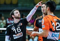 17.04.2019, Olympiahalle Innsbruck, Innsbruck, AUT, VBL, Deutsche Volleyball Bundesliga, HYPO Tirol Alpenvolleys Haching vs Berlin Recycling Volleys, Halbfinale, 3. Spiel, im Bild Nicolas Rossard (Berlin) // during the German Volleyball Bundesliga (VBL) 3rd semifinal match between HYPO Tirol Alpenvolleys Haching and Berlin Recycling Volleys at the Olympiahalle Innsbruck in Innsbruck, Austria on 2019/04/17. EXPA Pictures © 2019, PhotoCredit: EXPA/ JFK