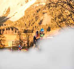 20.12.2014, Nordische Arena, Ramsau, AUT, FIS Nordische Kombination Weltcup, Staffel Langlauf, im Bild Tino Edelmann (GER) // during Cross Country of FIS Nordic Combined World Cup, at the Nordic Arena in Ramsau, Austria on 2014/12/20. EXPA Pictures © 2014, EXPA/ JFK