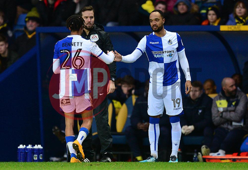 Byron Moore of Bristol Rovers replaces Kyle Bennett of Bristol Rovers - Mandatory by-line: Alex James/JMP - 10/02/2018 - FOOTBALL - Kassam Stadium - Oxford, England - Oxford United v Bristol Rovers - Sky Bet League One