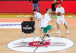 Mobitelov izziv: Vlado Ilievski, Matej Rojc in Darko Mirt na Dnevu slovenske moske kosarke 2010, on January 2, 2011 in Arena Stozice, Ljubljana, Slovenia. (Photo by Vid Ponikvar / Sportida.com)