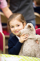 21/01/2016  Eliza Dinneen Carnmore NS with Skippy  at the 11th Annual Teddy Bear Hospital in NUI, Galway where Med students get used to dealing with kids and Kids get used to a hospital setting with their sick teddy bears.Photo:Andrew Downes