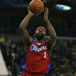 Jan 13, 2010; New Orleans, LA, USA; Los Angeles Clippers guard Baron Davis (1) shoots against the New Orleans Hornets during the first quarter at the New Orleans Arena. Mandatory Credit: Derick E. Hingle-US PRESSWIRE
