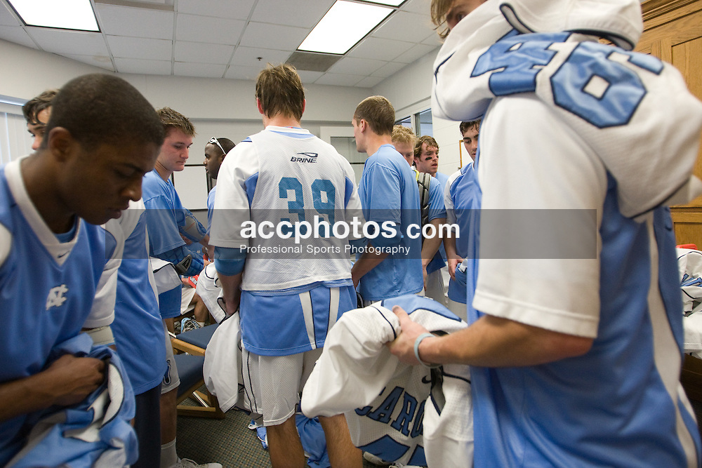 22 March 2008: North Carolina Tar Heels before playing the Maryland Terrapins at Fetzer Field in Chapel Hill, NC.