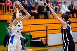 Rebeka Abramovic of ZKK Triglav Kranj during basketball match between ZKK Triglav Kranj and ZKD Maribor in Round #1 of 1. Slovenian Woman basketball league, on February 20, 2018 in ŠD Planina, Kranj, Slovenia. Photo by Ziga Zupan / Sportida