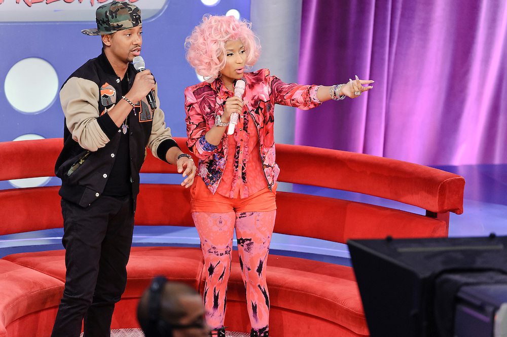 Photos of rapper Nicki Minaj performing on BET's '106 & Park' at the BET Studios, NYC. April 2, 2012. Copyright © 2012 Matthew Eisman. All Rights Reserved.