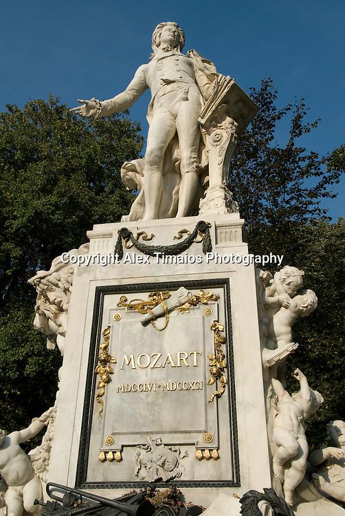 Vienna, the Mozart Monument