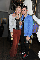MARY CHARTERIS and ROBIE FURZE at a carnival themed party hosted by Stacey Bendet for the Alice & Olivia fashion label at Paradise, Kensal Green, London on 9th November 2011