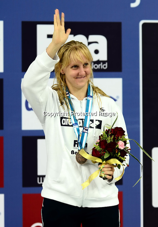 Nov 09, 2011; Beijing, CHINA; Jessicah Lee Schipper of Australia gets bronze medal in the final of Women's 200m Butterfly on day two of the FINA/ARENA Swimming World Cup 2011 at the National Aquatics Center.