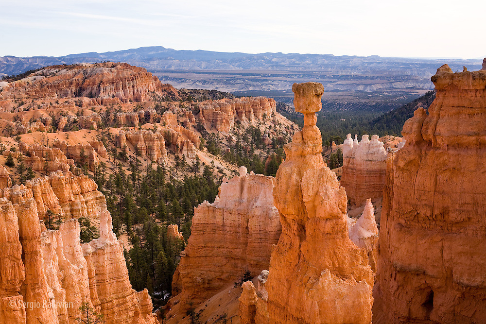 Views of the canyons and ravines from the area around Sunset  Point in Bryce Canyon National Park, Utah.