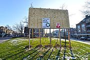 Nederland, Nijmegen, 26-1-2017Verkiezingsbord met affiches voor de komende verkiezingen voor de tweede kamer.Traditiegetrouw zijn SP en de partij voor de dieren er snel bij met hun verkiezingsposters.Netherlands, election board with posters for the forthcoming national elections.Foto: Flip Franssen