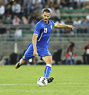 Leonardo Bonucci of Italy during the International Friendly match at Stadio San Nicola, Bari<br /> Picture by Stefano Gnech/Focus Images Ltd +39 333 1641678<br /> 04/09/2014
