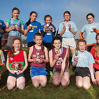Girls U14 top 12,<br /> 1st Sinead Lillis (Kilmihil)<br /> 2nd Hanah Shannon (KIB) <br /> 3rd Aine Garry (Fergus)<br /> 4th Shona Murphy (Fergus)<br /> 5th Gabriel Fennell (Kilmihil)<br /> 6th Clodagh McMahon (St. Marys)<br /> 7th Derinn Finnerty (Marian) <br /> 8th Keisha Atlewell (St Marys)<br /> 9th Rachel Hartigan (Marian)<br /> 10th Moya Sheehan (Marian)<br /> 11th Lisanne O'Brien (St Marys)<br /> 12th Elenaor Crowe (St Marys)