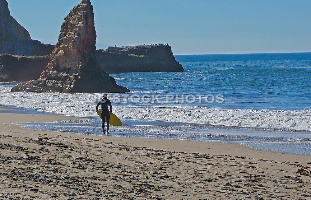 Skim Boarder at Davenport Beach California