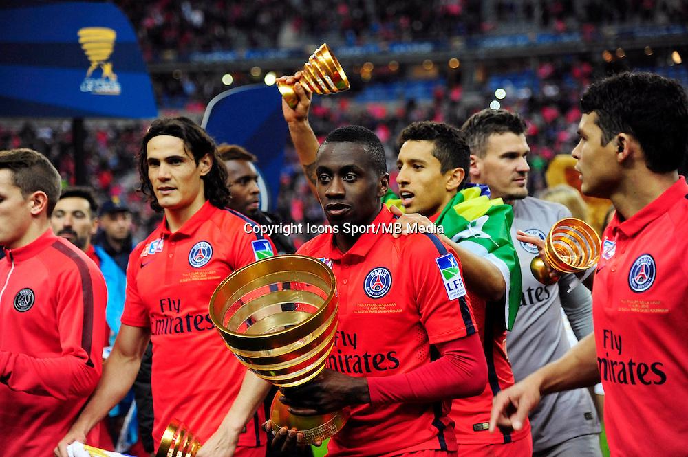 Victoire du PSG / Blaise MATUIDI  - 11.04.2015 -  Bastia / PSG - Finale de la Coupe de la Ligue 2015<br /> Photo : Dave Winter / Icon Sport