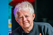 Henham Park, Suffolk, 20 July 2019. writer Richard Curtis talks about his new film Yesterday, which was partly filmed at the festival last year - The Dermot O'Leary show for BBC Radio 2 is broadcast from the BBC Introducing stage in the woods. The 2019 Latitude Festival.