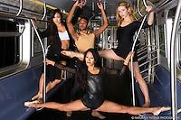 Dance As Art New York Subway Photo shoot featuring Sabrina Imamura, Julian Watson, Anglea Siler and Sylvanna Tapia.
