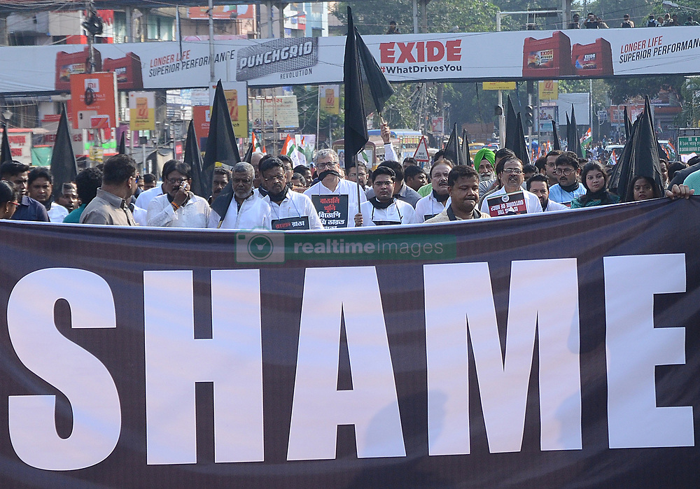 November 2, 2018 - India - Trinamul Congress supporters and leaders organized protest rally against the five Bengali people killing in Tinsukia district of Assam. Event TMC organized a protest march against killing of Bengali people in Assam. (Credit Image: © Sandip Saha/Pacific Press via ZUMA Wire)