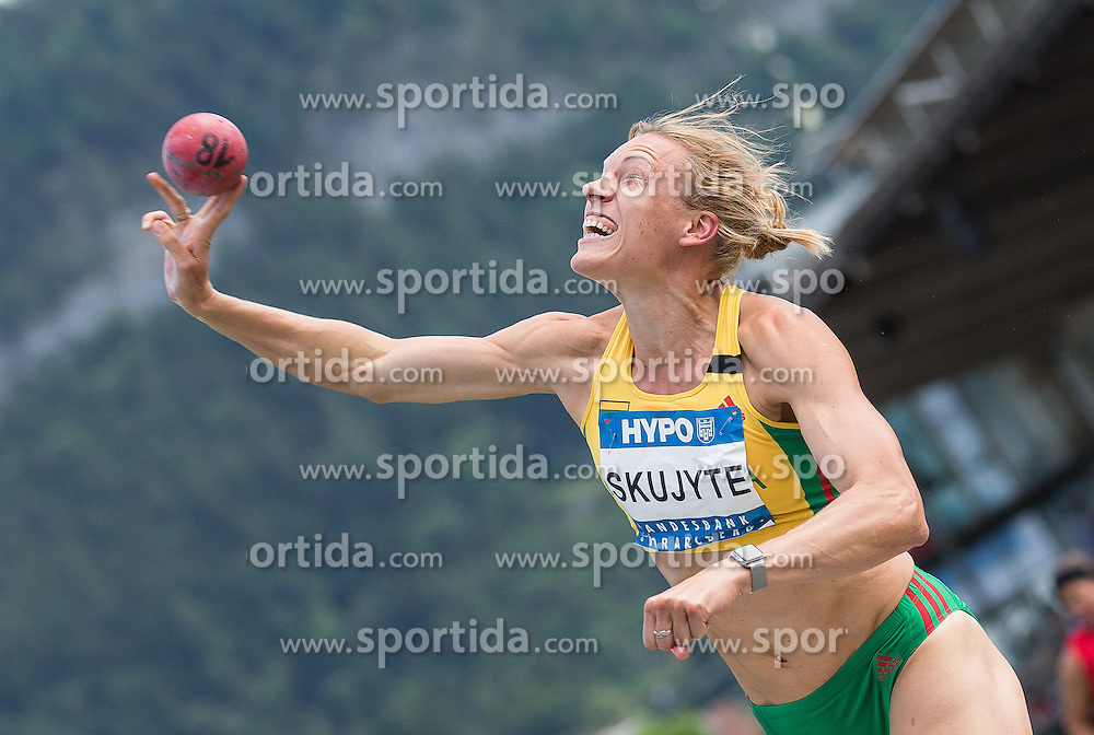 28.05.2016, Moeslestadion, Goetzis, AUT, 42. Hypo Meeting Goetzis 2016, Siebenkampf der Frauen, Kugelstossen, im Bild Austra Skujte (LTU) // during the shot put event of the Heptathlon competition at the 42th Hypo Meeting at the Moeslestadion in Goetzis, Austria on 2016/05/28. EXPA Pictures © 2016, PhotoCredit: EXPA/ Peter Rinderer