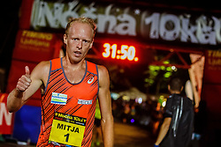 Mitja Krevs winner of 12th Nocna 10ka 2018, traditional running around Bled's lake, on July 14, 2018 in Bled, Slovenia. Photo by Grega Valancic / Sportida