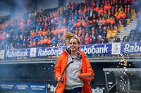 Den Bosch - Rabo fandag 2019 . hockey clinics met de spelers van het Nederlandse team. opkomst van international Famke Richardson  (Ned) .   COPYRIGHT KOEN SUYK