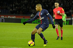 January 27, 2019 - Paris, Ile de France, France - Paris Saint Germain Forward KYLIAN MBAPPE in action during the French championship League 1 Conforama match Paris Saint Germain against Rennes at the Parc des Princes Stadium in Paris - France..Paris SG won 4-1 (Credit Image: © Pierre Stevenin/ZUMA Wire)