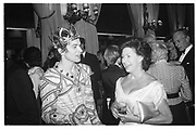 Rudolf Nureyev and Princess Margaret at Royal Opera house party, 2.12.82© Copyright Photograph by Dafydd Jones 66 Stockwell Park Rd. London SW9 0DA Tel 020 7733 0108 www.dafjones.com