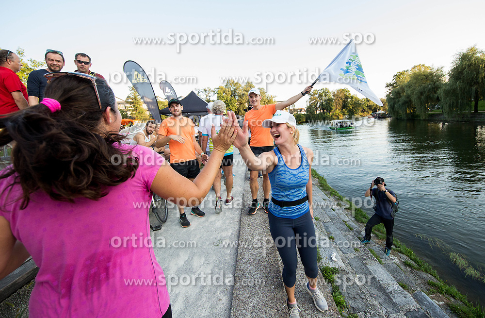 Runners at Adidas Bridge Run across river Ljubljanica, on September 8, 2018 in Ljubljana, Slovenia. Photo by Vid Ponikvar / Sportida